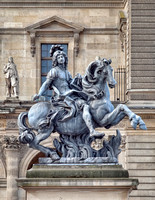 Statue of Louis XIV outside the Louvre.