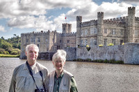 Breezy day, we are standing with the main buildings at the northeast end of Leeds Castle in the background.