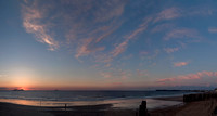 Sunset across from our hotel in Saint-Malo after we returned from our wonderful evening in Cancale, Brittany.