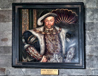 "Henry VIII painting ""in the style of Johan Van Der Banck"" ca. 1700."