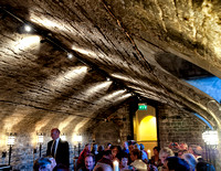 Our dining room.  Dating from the 15th Century, the Undercroft is one of the oldest parts of the Castle.