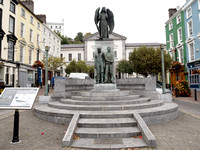The RMS Lusitania Peace Memorial is located in Casement Square in Cobh.