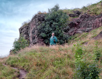Jim hiking on Arthur's Seat, Edinburgh, Scotland.