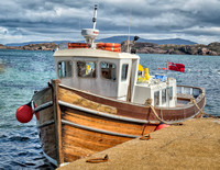 The boat that took us from Iona to Staffa to see Fingal's Cave.