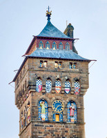 Set to either side of the large, cast iron clocks on each face of the tower are seven over life-sized figures representing the planets as Roman gods, portrayed in medieval costume.