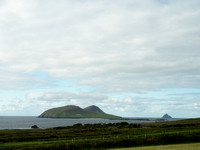 Looking southwest at Great Blasket Island from near Clogher Head, Dingle Peninsula.