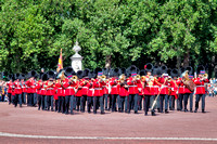The band leaving the Palace.