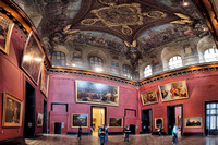 Panorama of room in the Louvre that contains the painting of the Consecration of the Emperor Napoleon I and Coronation of the Empress Josephine.