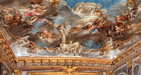 Ceiling of the Hercules salon.  The painting shows Hercules being received into the company of the Olympian gods.