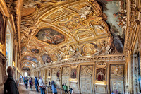Panorama of the wall and ceiling of the Galerie d'Apollon (Apollo Gallery).