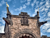 Detail of the Scottish National War Memorial Edinburgh Castle.