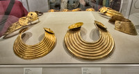 Gold collars dating to 800-700BC in the Dublin National Archeology Museum.
